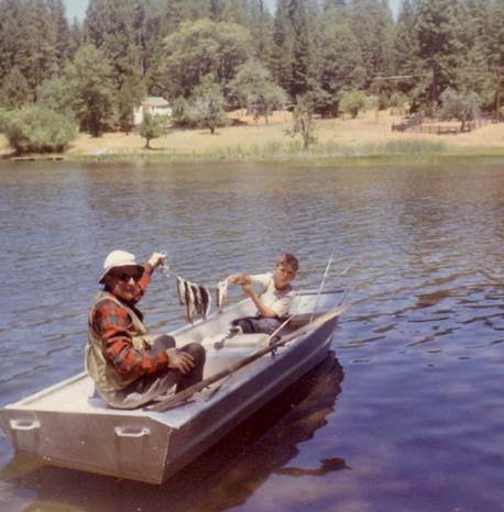 Trout Fishing with Jeff on the family vacation at Rock Creek near Mt. Lassen